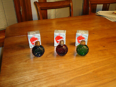 3 Vintage Avon Festive Facets Christmas Ornament Colognes  Heres My Heart1979-80