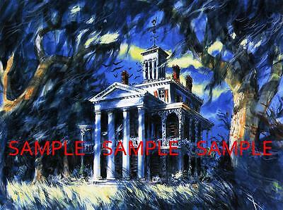 Vintage Disney ( Haunted Mansion Painting ) Collector's Poster Print - B2G1F