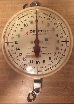 Detecto MCS Series Hanging Dial Scale Capacity 40-lbs x 2 oz. (SCALE ONLY)