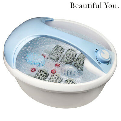 NEW Foot Spa Massager with Rollers Bubble Massage Hydro Jets Infrared