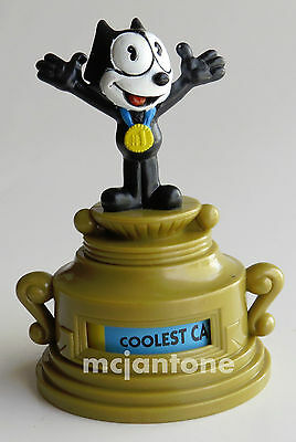 LOOSE Wendy's 1997 Felix the Cat GOLD TROPHY SPINNER Cartoon Black Cat Toy