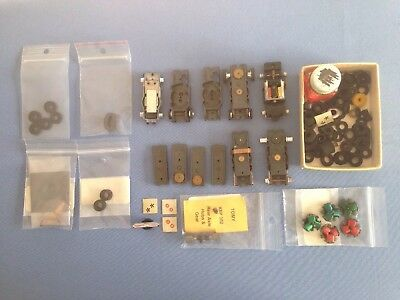 Vintage Aurora T-Jet Ho Scale Slot Car Chassis And Assorted Parts.