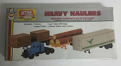 NEW - AHM HO Scale Heavy Haulers Action Accessory item # 11151 for Train Layout