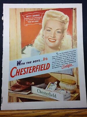 Chesterfield Betty Grable Advertisement