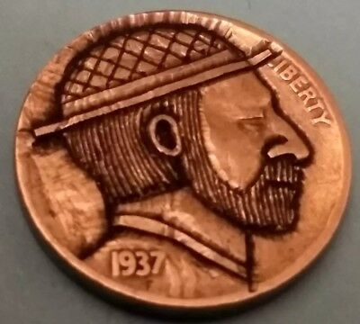 hobo nickel Mr. Gold hand carved by Brent 11