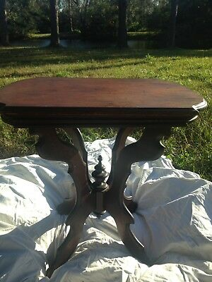 Antique Eastlake Victorian Side End Accent Table with Casters Vintage No Reserve