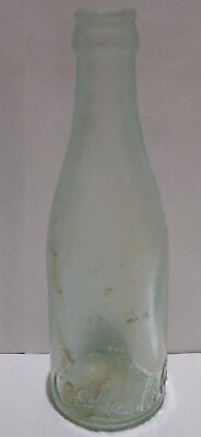 Antique straight side Clear aqua Coka Cola Bottle St. Louis Early Font