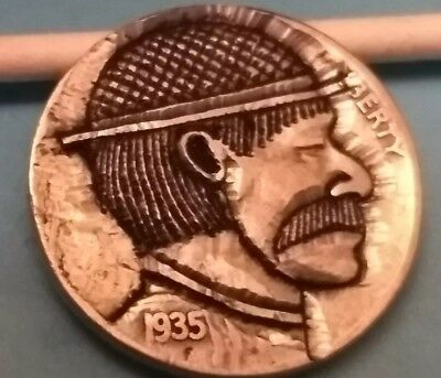 hobo nickel Mr. Watson hand carved by Brent 24