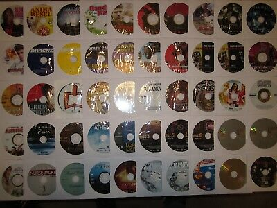 Lot of 50 DVDs, DISCS ONLY, Movies & TV,Comedy, Drama, Mystery,Horror,NO RESERVE
