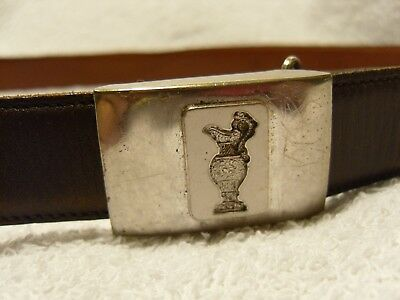 Genuine antique BSA Spencer solid sterling silver belt buckle (USA)