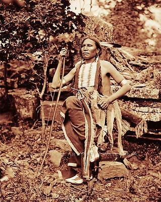 Cheyenne Indian Little Bear Vintage Photo Native American Old West 1875 #21378