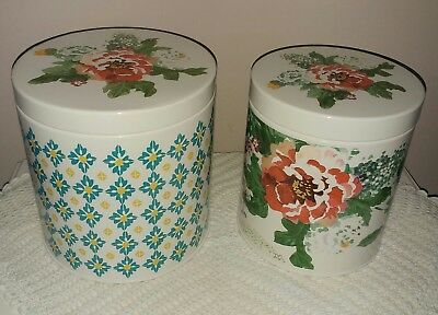 The Pioneer Woman Canister Set Geo Country Garden 2pc Med Large