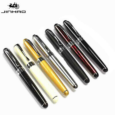 Matte Frosted Deluxe Black JinHao X750 Fountain Pen 0.5mm Fine Nib Pen Gifts New