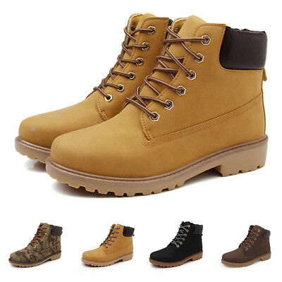 Mens Work Safety Shoes Leather Boots Ankle Boots Shoes Snow Winter Waterproof QC