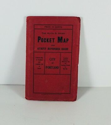 Vintage 1907 City of Portland Pocket Map and Street Reference Guide RARE