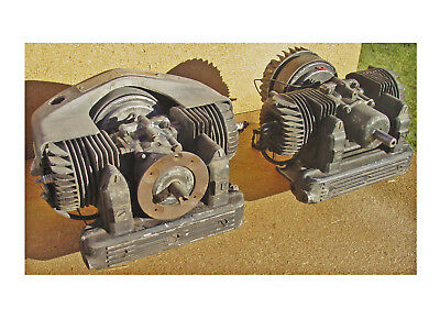 2 Vintage POWER PRODUCTS 300 / 305 TWIN CYLINDER 2-CYCLE Engines Lauson Kart RC