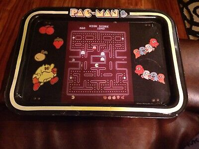 PAC-MAN 1980s Vintage Midway Metal Television Lap Tray With Legs