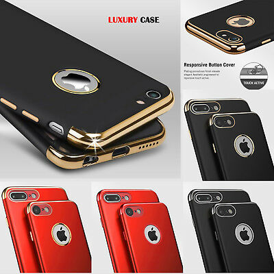 Case for Apple iPhone SE 7 6 Plus And Hard Silicone Phone TPU Metal Skin Cover