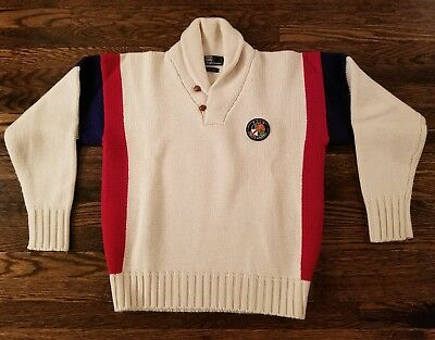 Vintage polo ralph lauren stadium indian p wing  1992 rare cookie shawl sz M
