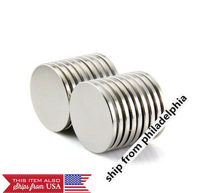 Wholesale 25 mm x 2 mm Super Strong N35 Round Disc Magnets Rare Earth Neodymium