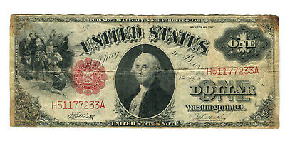 Series 1917 $1 One Dollar US United States Note Large Bill VG Currency Money