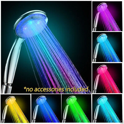 High Quality Home Bathroom 7 Color Changing LED Water Glow Light Shower Head New