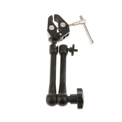 """11"""" Articulating Magic Arm w/ Crab Clamp Plier Clip for Camera LCD Monitor"""