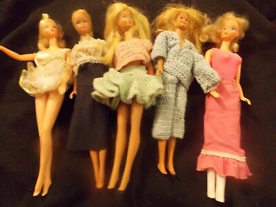 Large lot of vintage 1960's dolls - 7 Barbie, 2 Ken, 3 Dawn, 60 pcs clothing