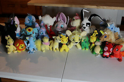 Lot of 26 Neopet Plush and Toys