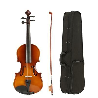 New 1/8 Size Suitable for 4-5 Years Old Kids Acoustic Violin+Case+Bow+Rosin
