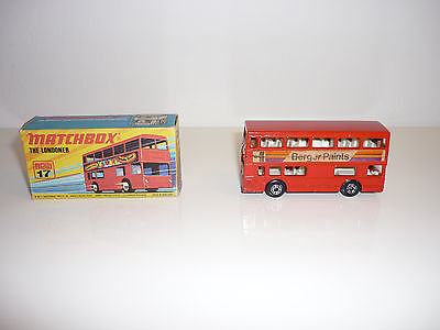 Ovp 💙matchbox💙 Superfast No. New 17 The Londoner 1972 Lesney Products