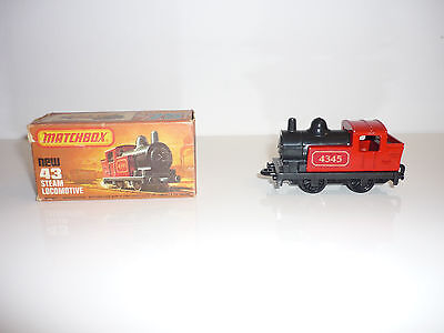 Ovp 💙matchbox💙 75 No. New 43 Steam Locomotive 1978 Lesney Products
