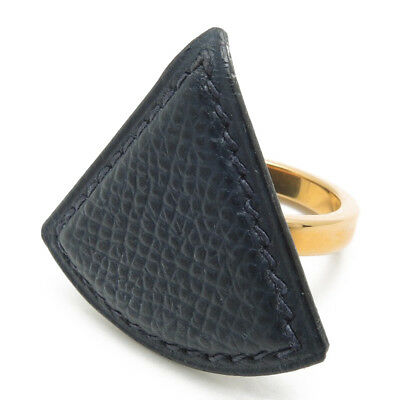 Authentic HERMES leather Scarf ring