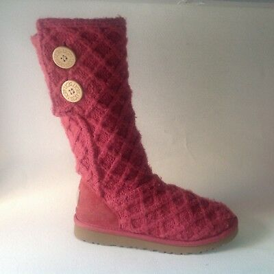 Big Kids UGG CARDY Boots sz Youth 4 Eur 34 Woven Girls Classic Boots tall