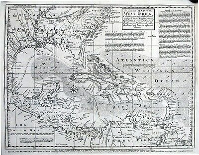 Antique map, An accurate map of the West Indies