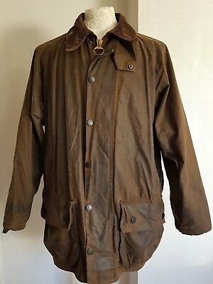 BARBOUR A830 Class If Beaufort 40 inch medium Wax Vintage Jacket