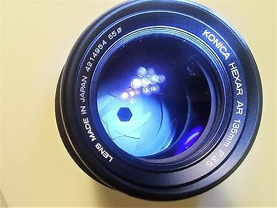 Konica Hexar AR 135mm f/3.5 Camera Lens with Original Case Great Condition