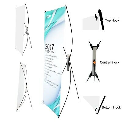 """ADJUSTABLE Tripod X Banner Stand Poster Signage Holder Fits 23""""X 63"""" to 31""""X 71"""""""