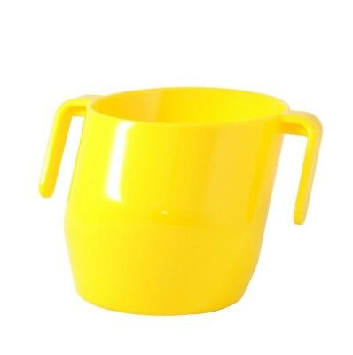 Bickiepegs Yellow Doidy Cup Children Drink Easily Teaches Two-Handled Cup Kids