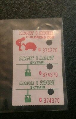 Rare Vintage San Diego Zoo Amusement Ride Tickets...nice..free shipping..