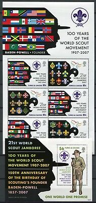 Turks & Caicos 2008 Pfadfinder Scouts Flaggen Flags 1870-1875 Block 236 MNH