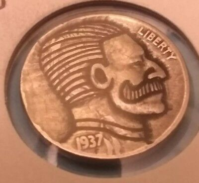 hobo nickel The Baron hand carved by Brent 31