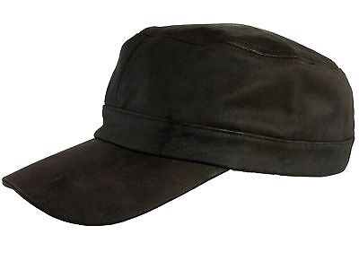 Thor Equine Field Leather Cap Western Baseball Cap Brown
