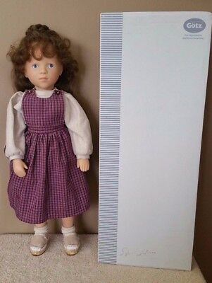 Gotz German Doll Sylvia Natterer Fanouche And Friends Delia Brown Hair Blue Eyes