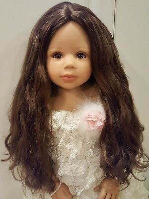 """NWT Monique Ginger Brown Wig For Doll 17-18"""" fits Masterpiece Doll(WIG ONLY)"""