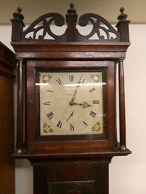 carved oak cased 30 hour grandfather clock