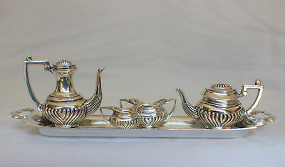 Vintage A. Marston Sterling Silver Miniature Tea Set with Tray