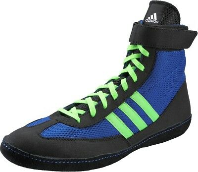 Special Offer Adidas Combat Speed 4 Boxing Boots Black Blue Shoes Size 11.5uk