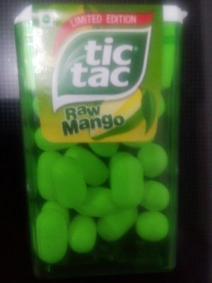 TIC TAC  raw mango Flavor limited edition (pack of 8)