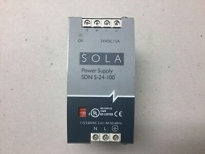 Sola SDN5-24-100 Power Supply 115/230VAC to 24VDC